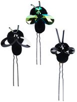 Piers Atkinson - crystal bug hair pins - women - Metal (Other)/Wool Felt/glass - One Size