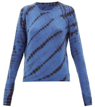 The Elder Statesman Tie-dyed Cashmere Sweater - Womens - Blue Multi
