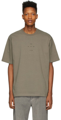 Song For The Mute Taupe Oversized Logo T-Shirt