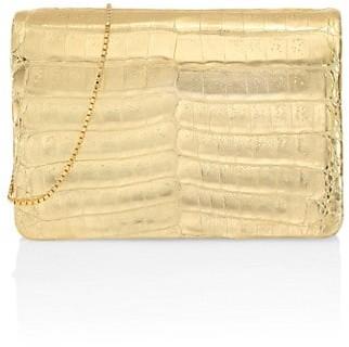 Nancy Gonzalez Metallic Crocodile Crossbody Bag