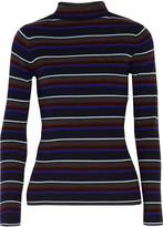 Alexander Wang Striped merino wool turtleneck sweater