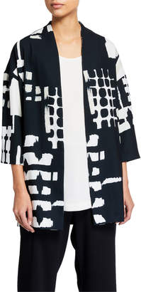 Natori Classic Block Print Kimono Jacket