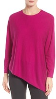 Eileen Fisher Women's Asymmetrical Featherweight Cashmere Sweater