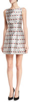 Alice + Olivia Lindsey Structured Cosmetics-Print Dress, Multicolor