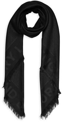 Burberry Monogram Wool & Silk Jacquard Scarf