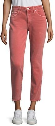 Amo Stix Crop Raw Hem Skinny Jeans