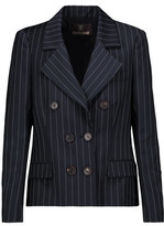 Roberto Cavalli Pinstriped Wool-Blend Blazer