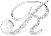 Matara The Letter Large Brooch White Gold - R