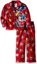 Nickelodeon Paw Patrol Little Boys' Ruff Ruff Rescue 2-Piece Pajama Coat Set, Red, 4T