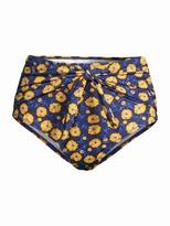 Shoshanna Daisy Daydream High-Waist Bikini Bottoms
