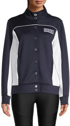 Karl Lagerfeld Paris Colorblock Funnelneck Jacket