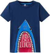 Joules Ray Shark Cotton T-Shirt - Dark Blue/Navy, Size 3-4y