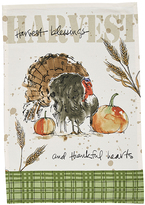 'Harvest Blessings' Turkey Dish Towel Set