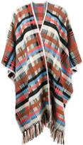 Missoni check fringed cape