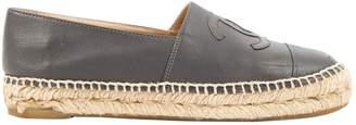 Chanel \N Grey Leather Espadrilles