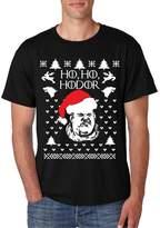 Allntrends Men's T Shirt Ho Ho Hodor Ugly Christmas Sweater Hodor Holiday (L, )