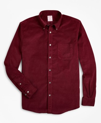 Brooks Brothers Madison Fit Garment-Dyed Corduroy Sport Shirt