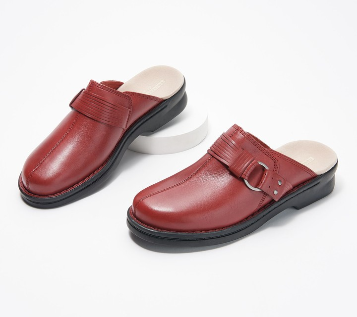 fa6e52063aca0 Collection Leather Slip-On Clogs - Patty Lorene