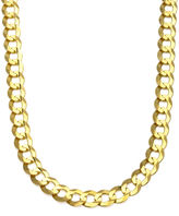 FINE JEWELRY 10K Yellow Gold 10MM Curb Necklace 26