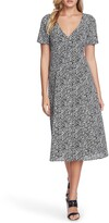 1 STATE 1.State Floral Folk Silhouette Button Front Dress