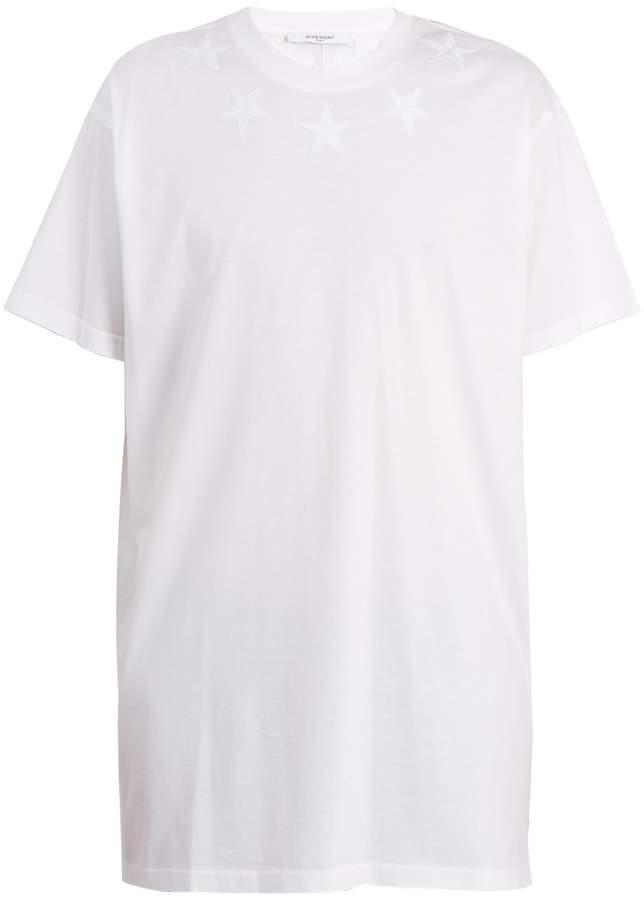 Givenchy Cuban-fit star-appliqué cotton T-shirt
