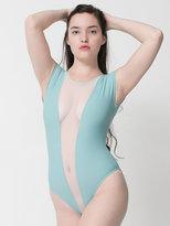American Apparel Nylon Tricot Micro-Mesh Gloria-V Bodysuit