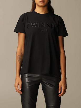 Twin-Set Twin Set T-shirt Cotton T-shirt With Embroidered Logo