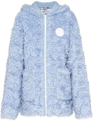 Miu Miu hooded zip-up faux-fur jacket