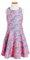 Un Deux Trois Girl's Daisy Brocade Skater Dress
