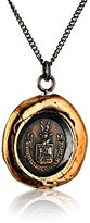 Pyrrha Bronze Be Here Now Talisman Necklace