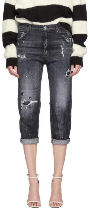 DSQUARED2 Black Steela Wash Dennis Jeans