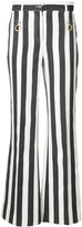 Nina Ricci striped flared trousers - women - Silk/Cotton - 38