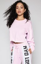 KENDALL + KYLIE Kendall & Kylie City Trim Cropped Sweatshirt