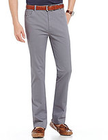 Hart Schaffner Marx Straight-Fit Flat-Front Washed Twill Pants
