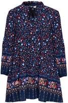 Glamorous **Ditsy Print Tie Front Smock Skater Dress