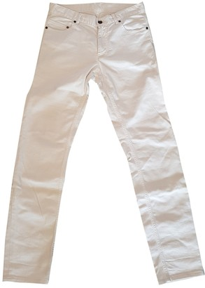 Saint Laurent White Cotton Jeans