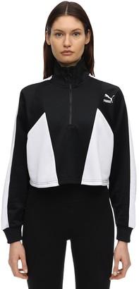 Puma Select Tfs Cropped Half Zip Sweatshirt