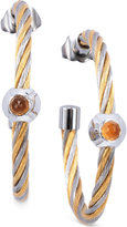 Charriol Women's Fabulous Citrine-Accent Two-Tone Pvd Stainless Steel Cable Hoop Earrings