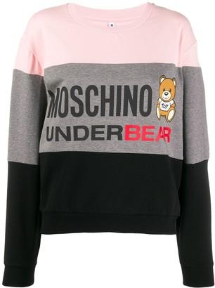 Moschino Underbear striped sweatshirt