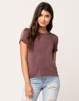 Mimichica MIMI CHICA Knot Sleeve Womens Tee