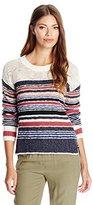 Sanctuary Women's Racer Stripe Slub Pullover Sweater