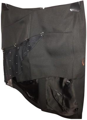 Anthony Vaccarello Black Viscose Skirts