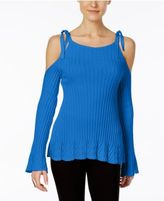 ECI Ribbed Off-The-Shoulder Sweater
