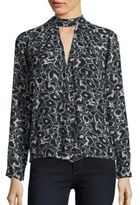 Romeo & Juliet Couture Animal Printed Silk Top