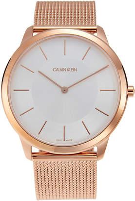 Calvin Klein K3M2T626 Rose Gold-Tone Mesh Minimal Watch