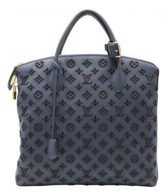Louis Vuitton Lockit Vertical Navy Leather Handbags