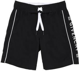 Givenchy Logo Print Nylon Swim Shorts