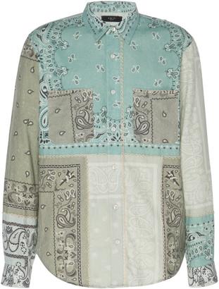 Amiri Bandana Reconstructed Cotton Flannel Shirt