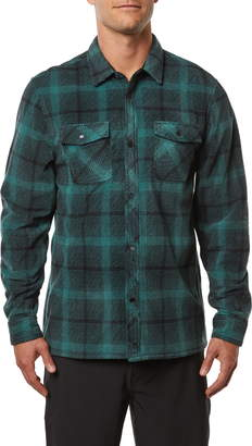 O'Neill Glacier Peak Standard Fit Plaid Snap-Up Fleece Shirt