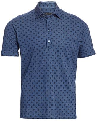 Saks Fifth Avenue COLLECTION Print Short Sleeve Shirt